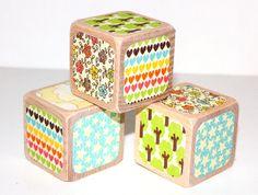 Children's Wooden Blocks  Baby Blocks  Shabby by Booksonblocks, $14.00