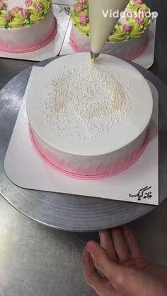 Cake Decorating Frosting, Cake Decorating Designs, Cake Decorating Techniques, Cake Decorating Tutorials, Cake Designs, Cookie Decorating, Fondant Cakes, Cupcake Cakes, Cake Piping