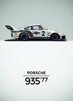 Porsche 935 Illustration, by Born.