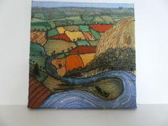 Garrowby Hill.Textile art £55.00