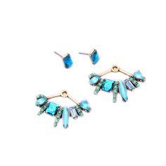 새로운 디자인 분리 스터드 귀걸이 Fanned 파티 보석 최고의 판매 도금 골동품 골드 도금 귀걸이