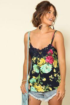 blusa alcinha tiras bouquet flora
