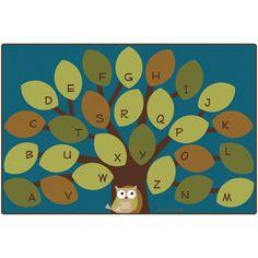 New carpet, new rug. Owl-phabet Tree Classroom Rug - Rectangle - x at SCHOOLSin Classroom Carpets, Owl Classroom, Preschool Classroom, Classroom Themes, Classroom Organization, Future Classroom, Kindergarten, Classroom Environment, Forest Classroom
