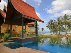 Villa Bua near Phang Nga Bay and white-sand beaches, Tha Lane Bay Village luxury vacation home has large private swimming pool and gardens, 3 bedrooms, sleeps 6.