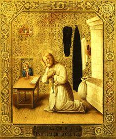 Icône représentant de Saint Séraphin de Sarov bénissant. Russie