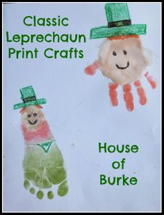 Classic Leprechaun Print Crafts - House of Burke