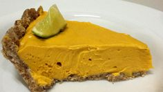 Mango cream pie made with avocado and dried mangos. So good and it's all raw, vegan and gluten free!