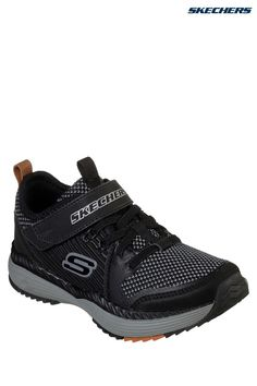 145a51297f4 ... Cosmic Foam Portal-X Shoes. Boys Skechers Kids Black And Grey Power  Drift Trainer - Black