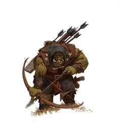 ArtStation - forgeworld/games workshop concept- orc arrer boy, adrian smith