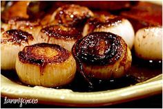 Roasted Balsamic Onions. I live for these!
