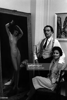 EVGENIA GL : Surrealist artist Salvador Dali and his wife,...