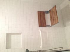Teak Wood Fold Up Shower Seat.