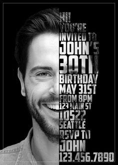 Porträteinladung - Porträt einladen - 30. Geburtstag - 40. Geburtstag - 50. Geburtstag - Gesicht Poster - 50. Party - 40. Party - 30. Party - #EINLADEN #Geburtstag #Gesicht #Party #plakat #Porträt #Porträteinladung #Poster