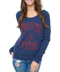 Take a look at this Navy Houston Texans Sweatshirt - Women by Junk Food on #zulily today!