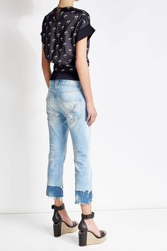 Distressed Cropped Jeans  | Dsquared2