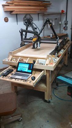 DIY Woodworking Fans Partcraft home Cnc Table, Router Table, Router Projects, Wood Projects, Cnc Woodworking, Woodworking Projects, Homemade Cnc, Routeur Cnc, Cnc Plans
