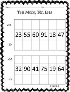 Place Value Worksheet Pack - Common Core