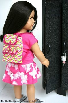 Doll Craft- Make a Backpack — Doll Diaries - uses duct tape and recycled food packaging - GENIUS!