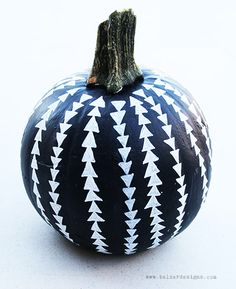 Painted pumpkin.