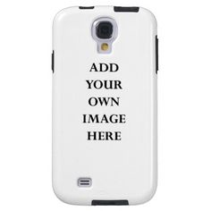Add your own portrait pictures for a truly personalized Samsung Galaxy S4 phone case #samsung #galaxyS4