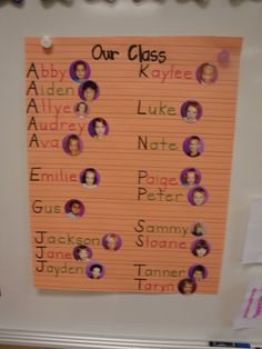 Would use names on the word wall, but I like the idea of adding a picture, especially when new kiddos arrive midway through the year.