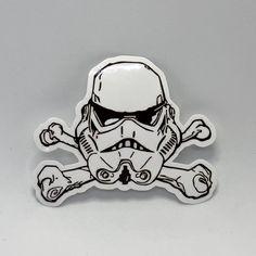 Skull and Cross Bones Fan Art Car Window Stickers, Cool Stickers, Custom Stickers, Car Decals, Sticker Shock, Sticker Bomb, Star Wars Tattoo, Skulls And Roses, Waterproof Stickers