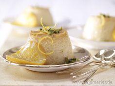 Orangen-Flan mit Pistazien und Karamell-Orangen - smarter - Kalorien: 229 Kcal   Zeit: 30 min. #dessert