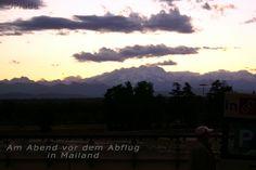 Am Abend vor dem Abflug nach Madadgaskar am Flughafen in Mailand