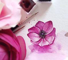 Have a nice and pink🌸 😉Tuesday 🎨💕 #ilustrace #malovani #krasnyden #akvarel #watercolor #watercolour #illustration #instaart #aquarelle #watercolorart #art #artlover #flowerart #lovepainting #passion #painting #instapaint #paint #flowerlovers #illustrator #picoftheday #prague #praha #czech #colors #miluju #windsorandnewton #pink #watercolorpainting #thatcolor