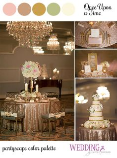 {Once Upon A Time} Wedding Inspiration // Designed by @1finedayevents // Location: @DLoakbrook // Photo: @BrittanyStudios // Floral @eventsbytcg // Cake: @tpatis // Invites: @christyoo8 // Rose Gold, Blush, Metallic Gold, Peach, Ivory