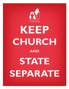 ... church and state separate.