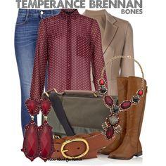 Inspired by Emily Deschanel as Temperance Brennan on Bones.