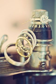 Wedding Rings froma Fun Vintage Wedding in Kleinberg, Ontario.
