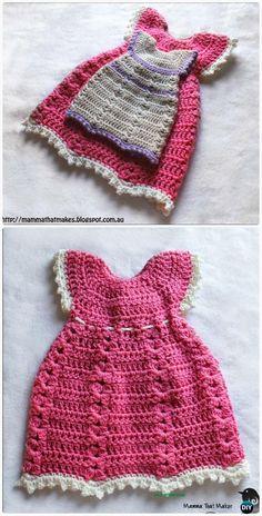 CrochetSweater GownFreePattern - Crochet Kids Sweater Tops Free Patterns