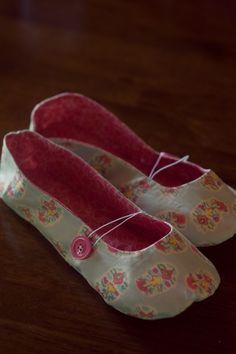 Fabric slippers. How cute are these!!!