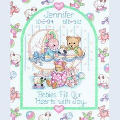 Babies Fill Our Hearts - Dimensions handwerkpakket met telpatroon