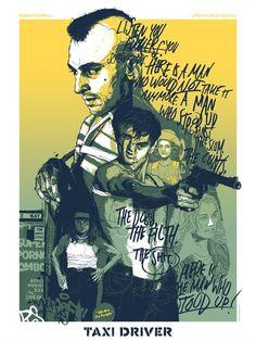Pôster do filme Taxi Driver. 10 filmes com o ator Robert De Niro. O cinema disposto em todas as suas formas. Análises desde os clássicos até as novidades que permeiam a sétima arte. Críticas de filmes e matérias especiais todos os dias. #filme #filmes #clássico #cinema #ator #atriz