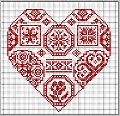 Quaker sampler heart