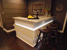 Basement Bar - nice in-panel lighting