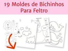 19 moldes bichinhos feltro                                                                                                                                                     Mais