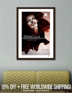 Discover «Dracula event poster», Limited Edition Fine Art Print by Javier Alamo - From 39€ - Curioos