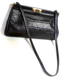 Vintage HandbagElbief England BagBlack by GrannysBottomDrawer
