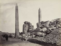 Carnac- The two Obelisks 1857-59 Francis Frith (1822-98)