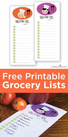 These are adorable Free Printable Grocery Shopping Lists to help you plan for weekly dinners and holiday entertaining. Get meals organized with fun grocery list notes.