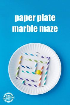 Diy stem and science ideas for kids and teens paper plate marble sometimes you just need a quick and easy activity for kids solutioingenieria Gallery
