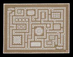 Hapsburg Lace Maze Embroidery Kit: Lacy Canvas Work Stitches