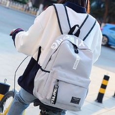 clothStyle:Simple/FreshFashion Element:Pure ColorCapacity:Can hold 15 inch laptop/can hold paper/inner zipper pockets High School Bags, Cute School Bags, High School Students, What's In My Backpack, Backpack For Teens, Cute Backpacks For School, Junior Backpacks, Teen Backpacks, College Backpacks