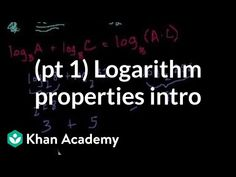 Introduction to logarithm properties Log Rules, Log Properties, Math Formulas, Arithmetic, Algebra, How To Apply, Writing, Education, Games