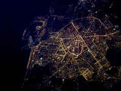 Vista nocturna de Valencia