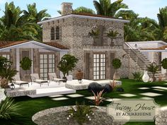 Lovely Tuscan house for your simmies!  Found in TSR Category 'Sims 3 Residential Lots'